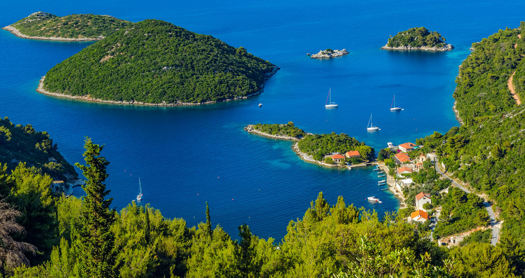 The island of Mljet, land by the sea, for a luxury resort hotel